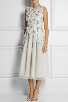 Holly Fulton  Embellished printed silk and organza dress $3,440