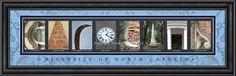 University of North Carolina Officially Licensed Framed Letter Art - 3 Versions