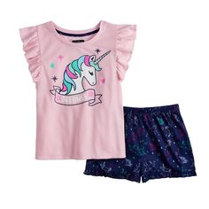 Trolls the Movie Girls Shorts Pajamas Set 6-16