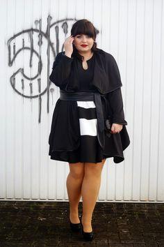 Plus Size Outfit - CONQUORE · The Fatshion Café Plus Size Blog: Two black & white outfit ideas