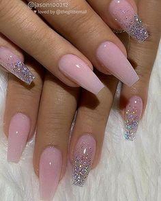 Acrylic nail designs 78601955983705216 - 39 Chic Acrylic Gel Coffin Nails Design Ideas – Summer Nail Purple Ideen Source by Summer Acrylic Nails, Cute Acrylic Nails, Spring Nails, Pink Acrylic Nail Designs, Coffin Nails Designs Summer, Glitter Nail Designs, Holiday Acrylic Nails, Peach Acrylic Nails, Pink Summer Nails