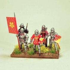 Twomore themed militia units from Peronne one of the towns which Henry V crossed on the way to the coast....