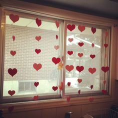 Valnetine's Day Heart Curtain
