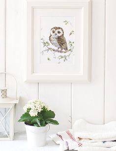 Owl Print Owl Art Print Owl Bird nursery decor, Woodland Nursery Art, Owl wall decor, Owl Nursery Decor, Owl gifts, Bird prints, Bird