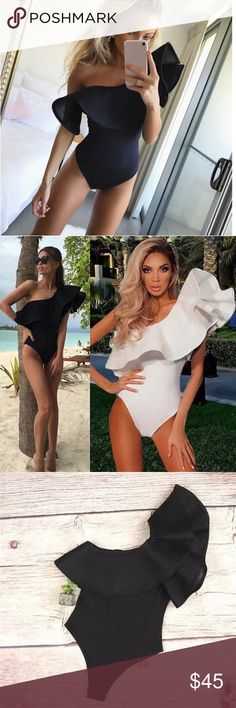 Sexy off shoulder onepiece bodysuit or swimsuit Brand new. Sexy onepiece comes in black color. Material is polyester. Not see through fabric. Availble in sizes  S, M, L, XL. Swim One Pieces