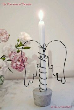 Original DIY Christmas decorations and decoration made of thin .- Original DIY Weihnachtsschmuck und Dekoration aus dünnem Draht – Beste Dekoideen Original DIY Christmas decorations and decoration made of thin wire – best decoration ideas - Noel Christmas, Diy Christmas Ornaments, Christmas Decorations, Christmas Candle Holders, House Decorations, Wire Crafts, Diy And Crafts, Easy Crafts, Easy Diy