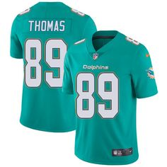 Youth Nike Miami Dolphins #89 Julius Thomas Limited Aqua Green Team Color NFL Jersey