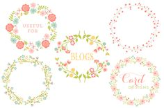 Floral Vector Wreaths - Illustrations - 3