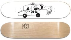 David Shrigley Limited Edition Skate Deck.  Silk screened top and bottom.  Limited Edition of 100
