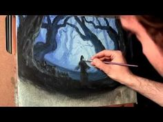Painting Lions:Acrylic Painting Techniques for how to paint fur - YouTube Painting Fur, Acrylic Painting Techniques, Matte Painting, Painting Videos, Jason Bowen, Forest Art, Blue Forest, Haunted Forest, Wine And Canvas
