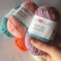 How squishy is Ewe So Sporty yarn? So squishy!