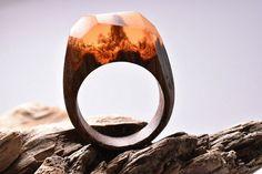 9 anéis maravilhosos que recriam pequenos universos em madeira - Mega Curioso