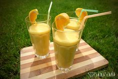A delicious cocktail of mango and orange can be a way to consolation and a bit of exoticism and sunshine.