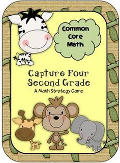 Common Core Capture 4 2nd Grade Math Strategy Games