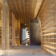 Delicate brass framework divides spaces inside Neri&Hu's Sulwhasoo flagship store