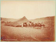 Anónimo  Campamento en el desierto  Década de 1880  Fotografía perteneciente a la colección de Clark & Joan Worswick