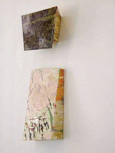 elizabeth vary, Untitled, 1999, oil on cardboard, 33,2x33,7x10,7 cm.
