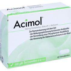 ACIMOL Filmtabletten zur Harnansäuerung mit pH Teststreifen: mit Wirkstoff L-Methionin zur Harnansäuerung  Packungsinhalt: 48 St…