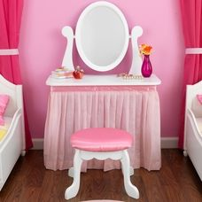 Little girlu0027s vanity/mirror from kidcraft. But I think this could be DIY for much less. & Little Girls Play Vanity Table | Pinterest | Vanity tables Vanities ...