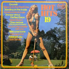 Artist: Various Title: Hot Hits 19 Year: 1973 Label: MFP Sleeve Design: Peter Marriott Photographer: Dick Swayne For more great sleeves, visit the Cheesecake Album Cover Gallery. Lp Cover, Vinyl Cover, Cover Art, Worst Album Covers, Bad Album, Whole Lotta Love, Pop Hits, Jimi Hendrix, Model Release