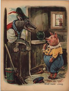 """""""THE THREE LITTLE PIGS"""", illustrated by G.H.T., Raphael tuck & Sons Ltd."""
