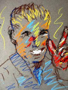 Original Pastel Sketch from Artisan  Loser by ArtisanInternet