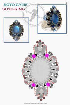 * Ewa gyöngyös világa!: Soyo gyűrű minta / Soyo ring pattern