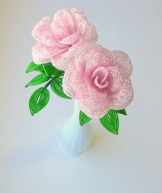 French beaded roses!