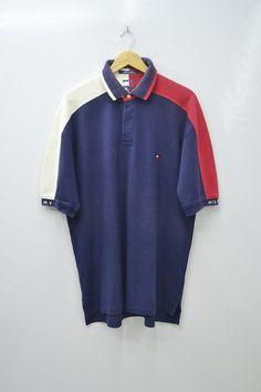 c4c26089 Tommy Hilfiger Shirt Tommy Hilfiger Polo Shirt Vintage Tommy Hilfiger Big  Logo Spell Out Polos Size L Tommy Hilfiger Vintage Mens L Shirt