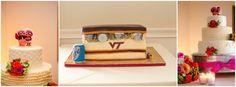 Belmont Country Club wedding Virginia Tech grooms cake, VT Hookies wedding cake