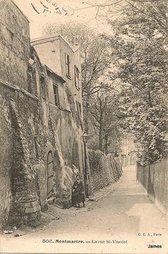 Montmartre. - La rue St. Vincent