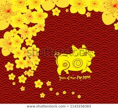 abstract chinese new year background vector design chinese new year 2019 year of the pig pinterest chinese new year chinese and chinese new year