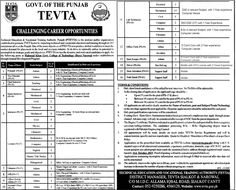 Jobs Opportunities in Technical Education and Vocational Training Authority 2015 ~ Jobs in Pakistan