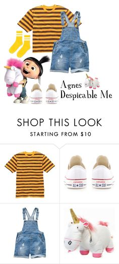 """Agnes from Despicable Me Costume"" by mejfun on Polyvore featuring Converse, Fat Face and Topshop"
