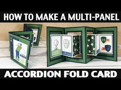 Stamping Jill - How To Make A Muti-Panel Accordion Fold Card Fancy Fold Cards, Folded Cards, Pop Up Card Templates, Accordion Fold, Pop Up Box Cards, Interactive Cards, Up Book, Shaped Cards, Birthday Cards For Men