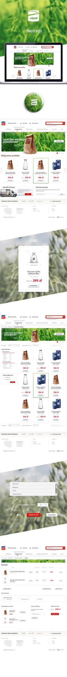 Arkop e-commerce by Karol Kos, via Behance