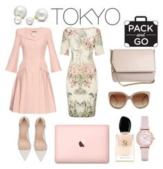 """PackAndGo to Tokyo"" by makesmefashionable on Polyvore featuring Adrianna Papell, Alexander McQueen, Gianvito Rossi, Emporio Armani, Allurez, Givenchy, Giorgio Armani, STELLA McCARTNEY, tokyo and Packandgo"