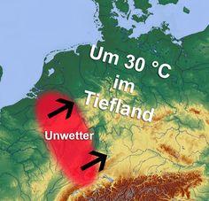 +++ Hochsommerliche Hitze und unwetterartige Gewitter +++  Wir haben gerade einmal Anfang Mai und trotzdem in Sachen Hitze und Gewitter schon einiges erlebt. In naher Zukunft werden wir in der Hinsicht noch mehr erleben, denn Tag für Tag steigen die Temperaturen wieder an, wobei bis spätestens Mitte nächster Woche 30 Grad erreicht werden.  #Unwetter #Gewitter #Hagel #Platzregen #Schauer #Böen #Hitze #Wetter
