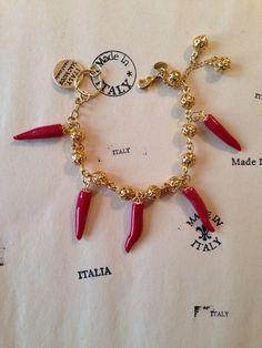 Italian Cornicello Chili Pepper Horn Statement Bracelet Lucky Charm Evil Eye   eBay