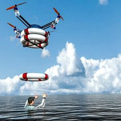 People are working on a drone that can save you from drowning. Pars is a seafaring Savior Arial Robot that fly around coastlines with flotation devices in case someone is drowning. Futuristic Robot, Futuristic Technology, Drone Technology, Science And Technology, Technology Gadgets, Medical Technology, Energy Technology, Science Education, Science Activities