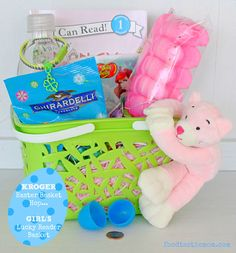 Another unique DIY Easter basket idea, filled with items found at your local @Kroger Co store! #EasterBasketHop