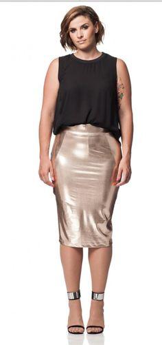tunnel skirt ,Carmakoma, gouden rok, goudkleurige rok
