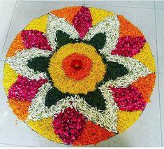 Rangoli Designs Flower, Rangoli Designs Diwali, Flower Rangoli, Simple Rangoli, Flower Mandala, Mandala Art, Flower Designs, Flower Art, Diwali Decorations