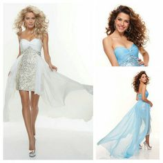 Free shippingWhite and Blue Chiffon Sequins Lovely Cheap Prom Dress Short Front Long Back Skirts US $117.99