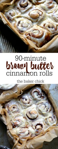 90-minute Brown Butter Cinnamon Rolls (Dessert Recipes Cinnamon)
