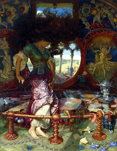 William Holman Hunt, The Lady of Shalott, c.1890-1905.  The Stanford Gallery