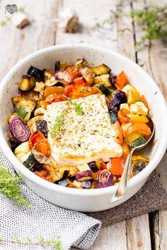 Raw Food Recipes, Meat Recipes, Italian Recipes, Cooking Recipes, Healthy Recipes, Vegetarian Dinners, Vegetarian Recipes, Feta, Lean Meals