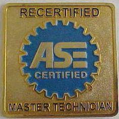 Recertified Master Technician Toolbox Magnet