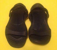 Crocs Women's Cleo Black Slide 7 M open toe slingbacks  #Crocs #Cleo #Beach