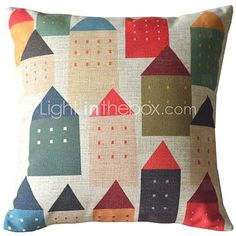 Sweet Home Color the House Decorative Pillow Cover - GBP £ 13.13